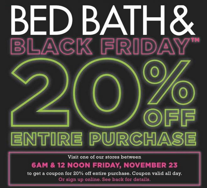 bed bath and beyond black friday online coupon