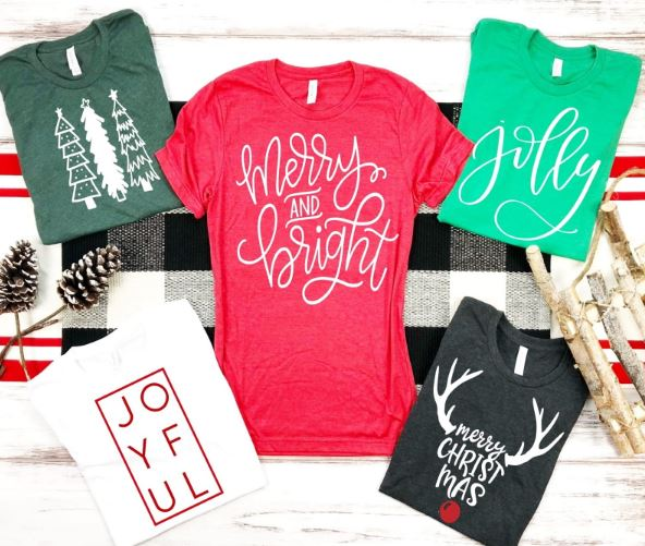 Merry and bright Christmas holiday shirt jolly