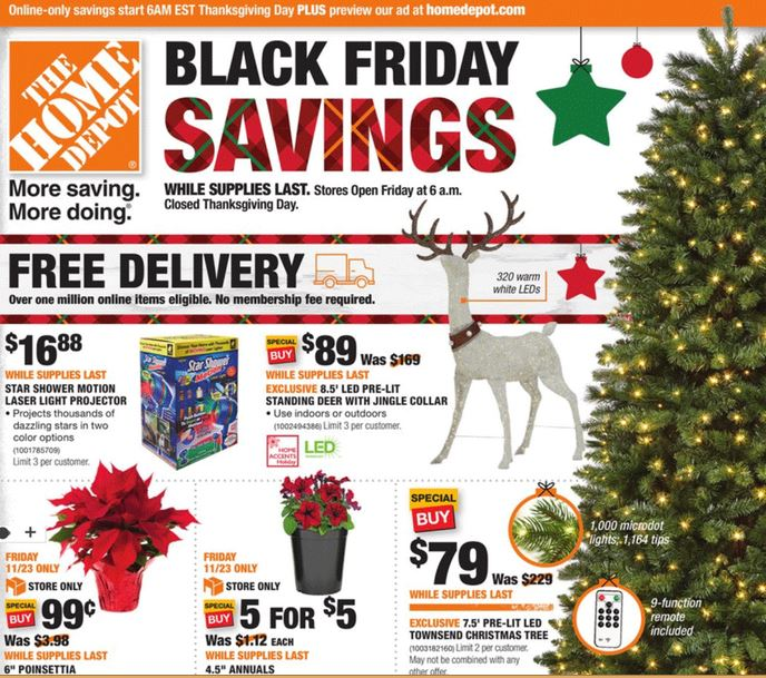 home depot black friday 2018 99 poinsettia and star shower motion projector saving. Black Bedroom Furniture Sets. Home Design Ideas
