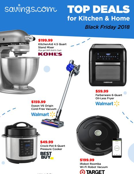 Top Home & Kitchen Deals for Black Friday | Best Price on KitchenAid Mixer, Roomba, Dyson and more!
