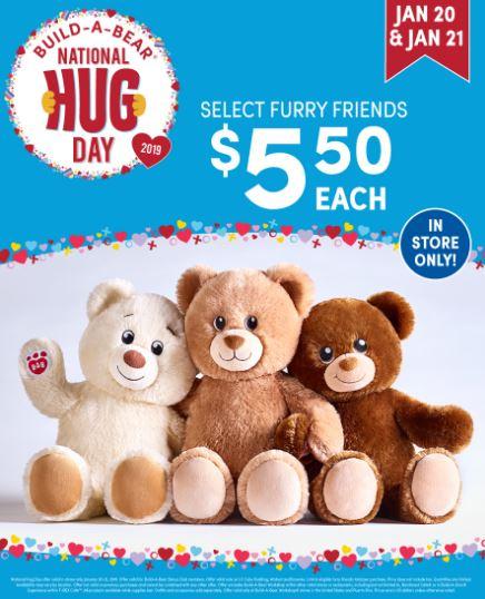 national hug day at Build a Bear