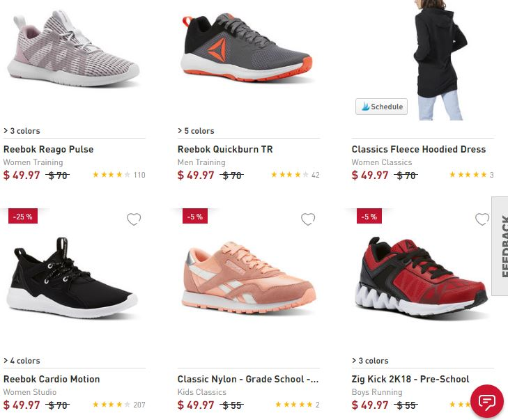 37fccd867 Reebok.com: 40% off Coupon Code | Shoes for Kids, Women and Men starting at  $29.98!