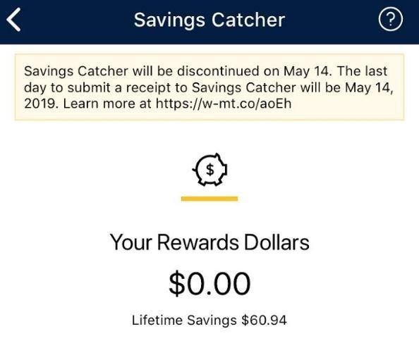 May 14: Walmart Savings Catcher Ending - Saving Toward A