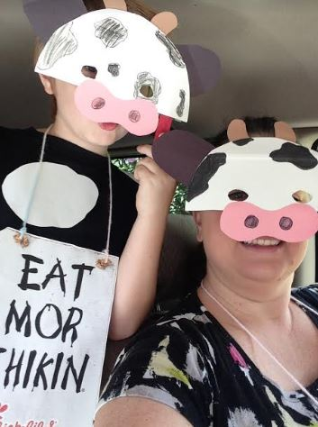 picture regarding Printable Chick Fil a Cow Costume called Chick-fil-A Cow Appreciation Working day Straightforward Dress Strategies and Suggestions
