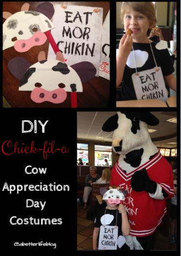 photograph relating to Printable Chick Fil a Cow Costume known as Chick-fil-A Cow Appreciation Working day Very simple Gown Plans and Suggestions