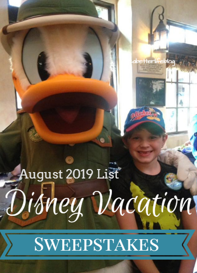 UPDATED* Disney Vacation Sweepstakes List for August 2019