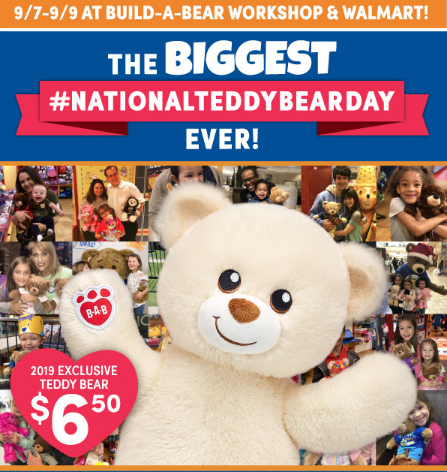 picture about Build-a-bear Printable Coupons referred to as Establish-A-Endure Countrywide Teddy Endure Working day Go through $6.50 Way too