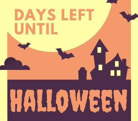 Days Left Until Halloween Printable Countdown