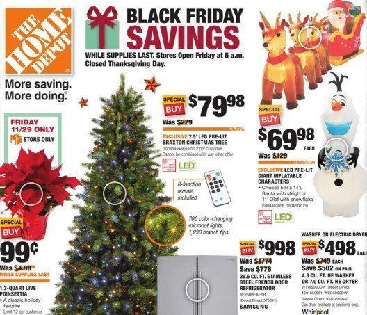 Home Depot Black Friday 2019 Ad Opens Friday 6am 99 Poinsettias In Store Only