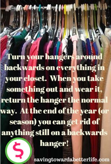Closet Organizing Tip