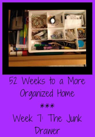 52 Weeks to a More Organized Home | Week 8: The Junk Drawer - Saving Toward A Better Life