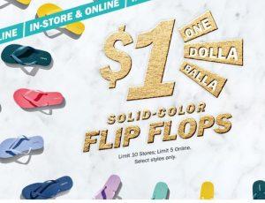 SATURDAY* $1 Flip Flop sale at Old Navy