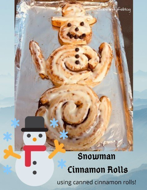 snowman cinnamon rolls